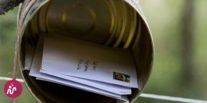 boite aux lettres dans une boite de conserve