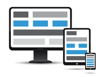 Image libre de droits sur le design web responsive